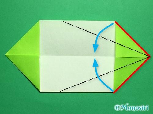 折り紙で立体的なチューリップの折り方手順44