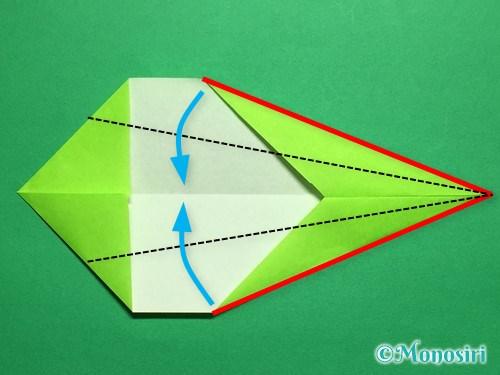 折り紙で立体的なチューリップの折り方手順46