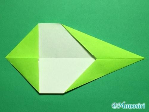 折り紙で立体的なチューリップの折り方手順45