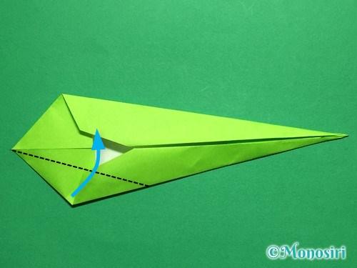 折り紙で立体的なチューリップの折り方手順48
