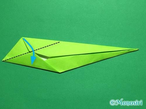 折り紙で立体的なチューリップの折り方手順50