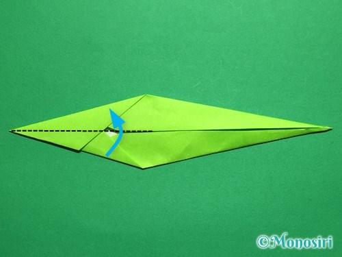折り紙で立体的なチューリップの折り方手順52