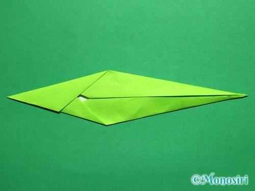 折り紙で立体的なチューリップの折り方手順51