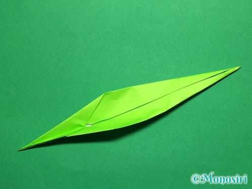 折り紙で立体的なチューリップの折り方手順54