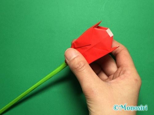 折り紙で立体的なチューリップの折り方手順58