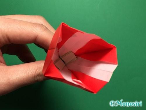 折り紙で立体的なチューリップの折り方手順60