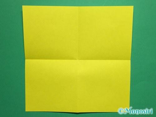 折り紙で蝶(ちょうちょ)の折り方手順2