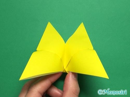 折り紙で蝶(ちょうちょ)の折り方手順18