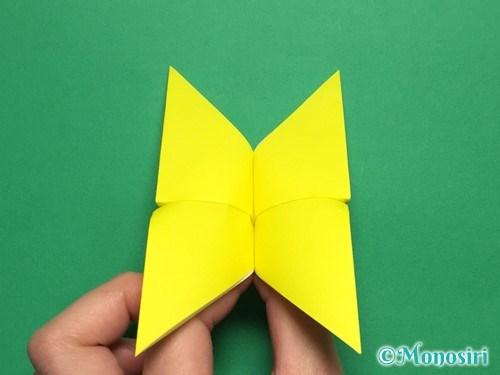 折り紙で蝶(ちょうちょ)の折り方手順19