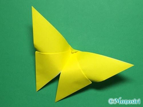 折り紙で蝶(ちょうちょ)の折り方手順21