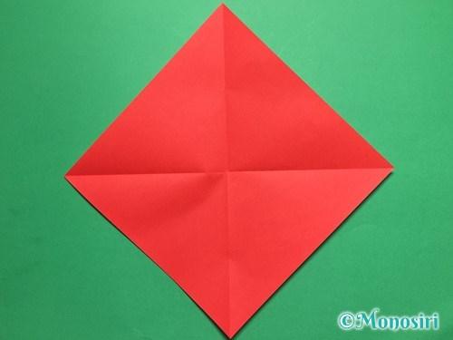 折り紙でテントウ虫の折り方手順2
