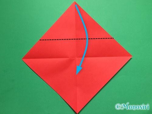 折り紙でテントウ虫の折り方手順3