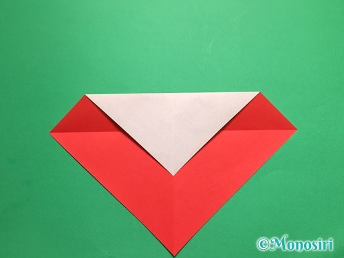 折り紙でテントウ虫の折り方手順4