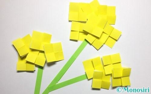 折り紙で作った菜の花