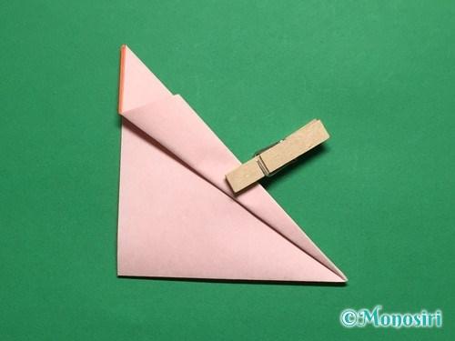 折り紙で簡単なガーベラの折り方手順10