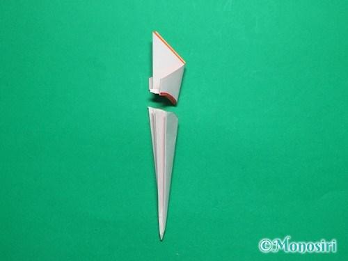 折り紙で簡単なガーベラの折り方手順18