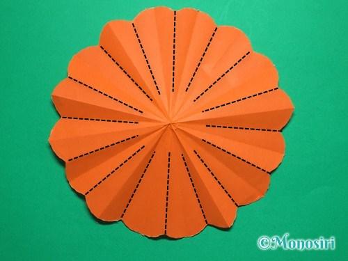 折り紙で簡単なガーベラの折り方手順20