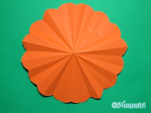 折り紙で簡単なガーベラの折り方手順19