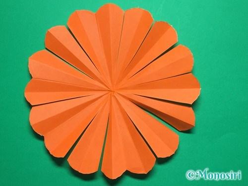 折り紙で簡単なガーベラの折り方手順21