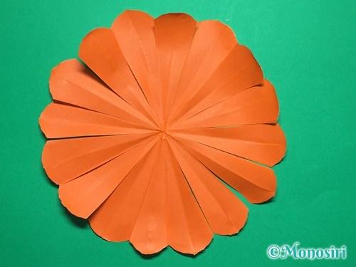折り紙で簡単なガーベラの折り方手順22