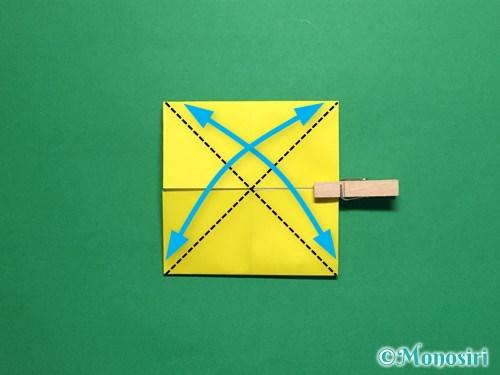 折り紙で蝶(ちょうちょ)の折り方手順9