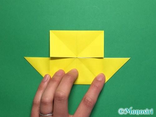 折り紙で蝶(ちょうちょ)の折り方手順16