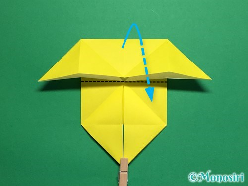折り紙で蝶(ちょうちょ)の折り方手順20