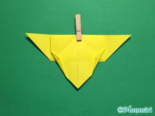 折り紙で蝶(ちょうちょ)の折り方手順23