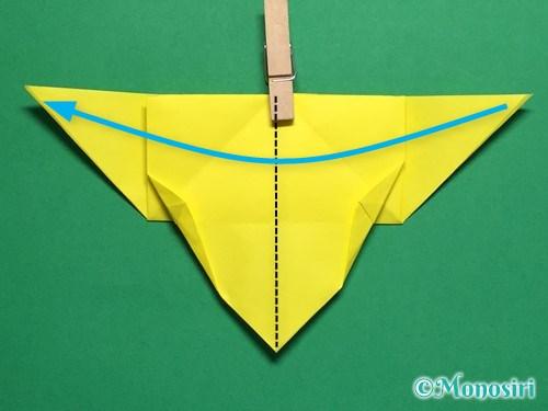 折り紙で蝶(ちょうちょ)の折り方手順24