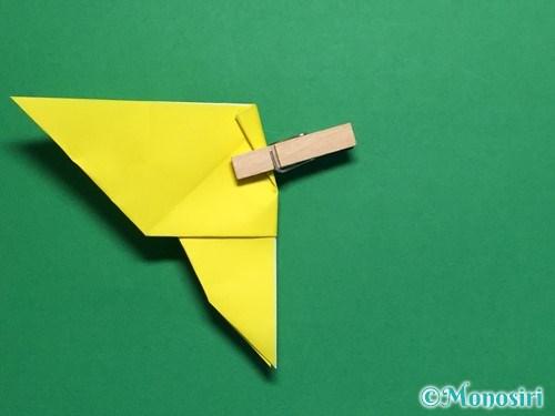 折り紙で蝶(ちょうちょ)の折り方手順27