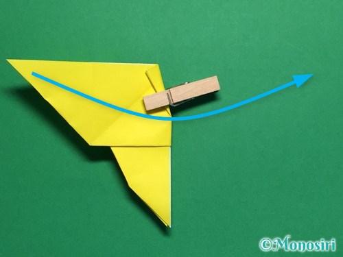 折り紙で蝶(ちょうちょ)の折り方手順28