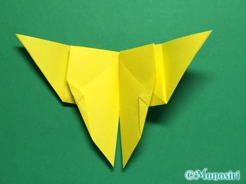 折り紙で蝶(ちょうちょ)の折り方手順29