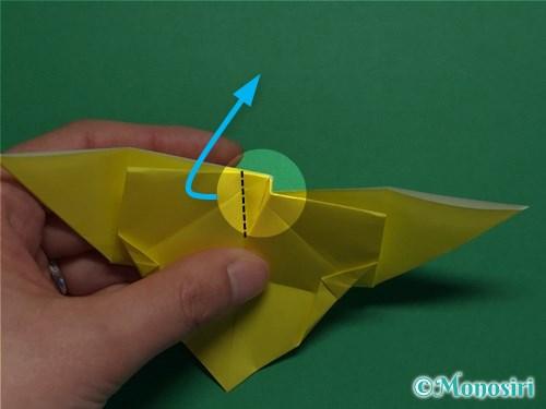 折り紙で蝶(ちょうちょ)の折り方手順30