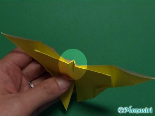 折り紙で蝶(ちょうちょ)の折り方手順31