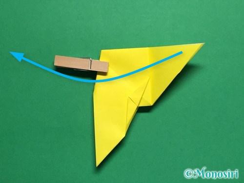 折り紙で蝶(ちょうちょ)の折り方手順34