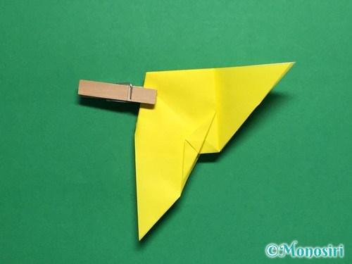 折り紙で蝶(ちょうちょ)の折り方手順33