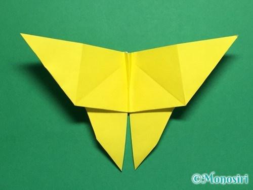 折り紙で蝶(ちょうちょ)の折り方手順35