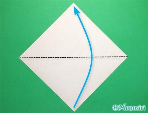 折り紙で立体的なてんとう虫の折り方手順1
