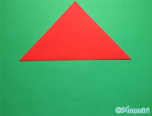 折り紙で立体的なてんとう虫の折り方手順2