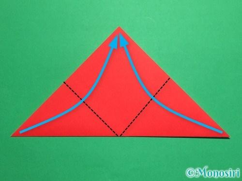折り紙で立体的なてんとう虫の折り方手順3