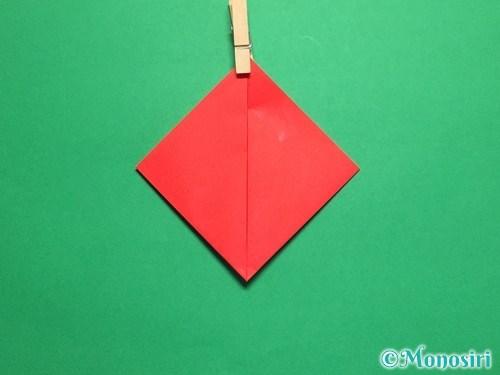折り紙で立体的なてんとう虫の折り方手順4
