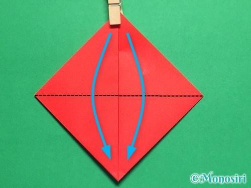 折り紙で立体的なてんとう虫の折り方手順5