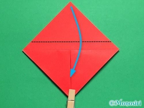 折り紙で立体的なてんとう虫の折り方手順7