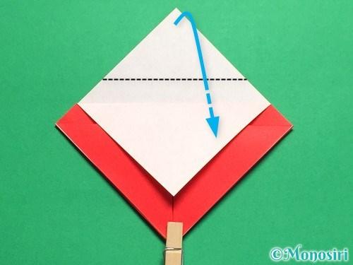 折り紙で立体的なてんとう虫の折り方手順9