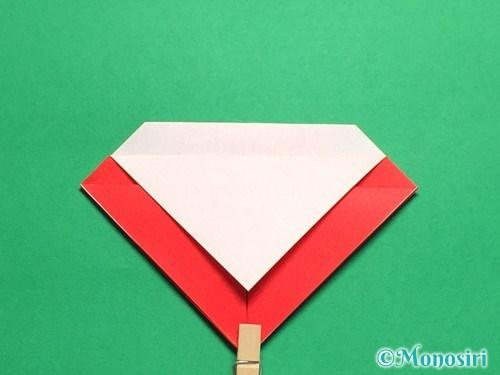 折り紙で立体的なてんとう虫の折り方手順10
