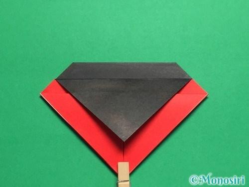 折り紙で立体的なてんとう虫の折り方手順11