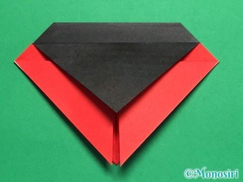 折り紙で立体的なてんとう虫の折り方手順12