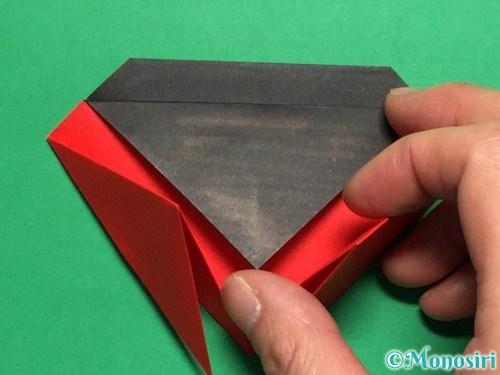 折り紙で立体的なてんとう虫の折り方手順13