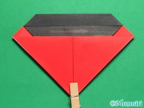 折り紙で立体的なてんとう虫の折り方手順14