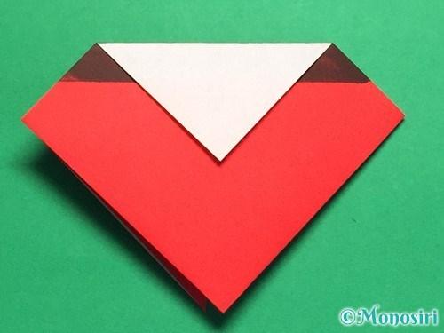 折り紙で立体的なてんとう虫の折り方手順15